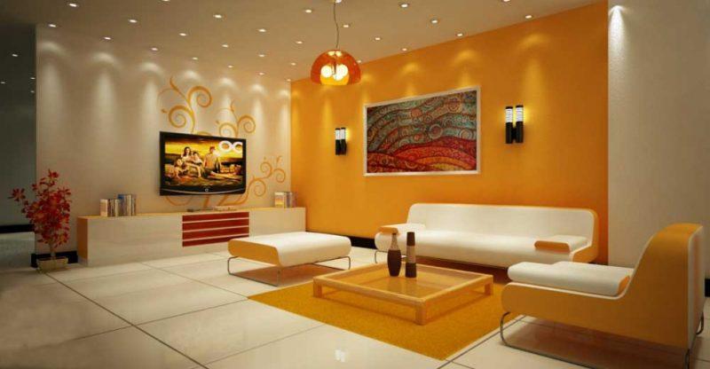 Phòng khách thiết kế cho người mệnh Thổ