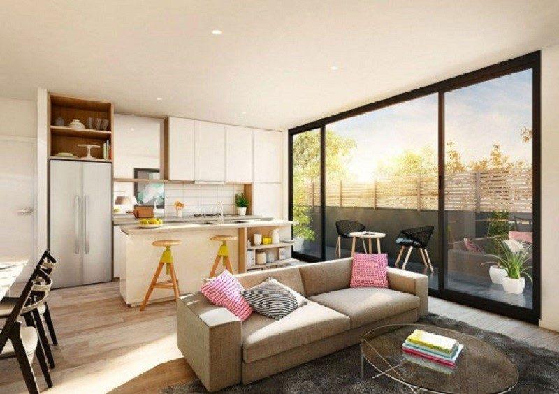 Phòng khách chung cư tận dụng ánh sáng