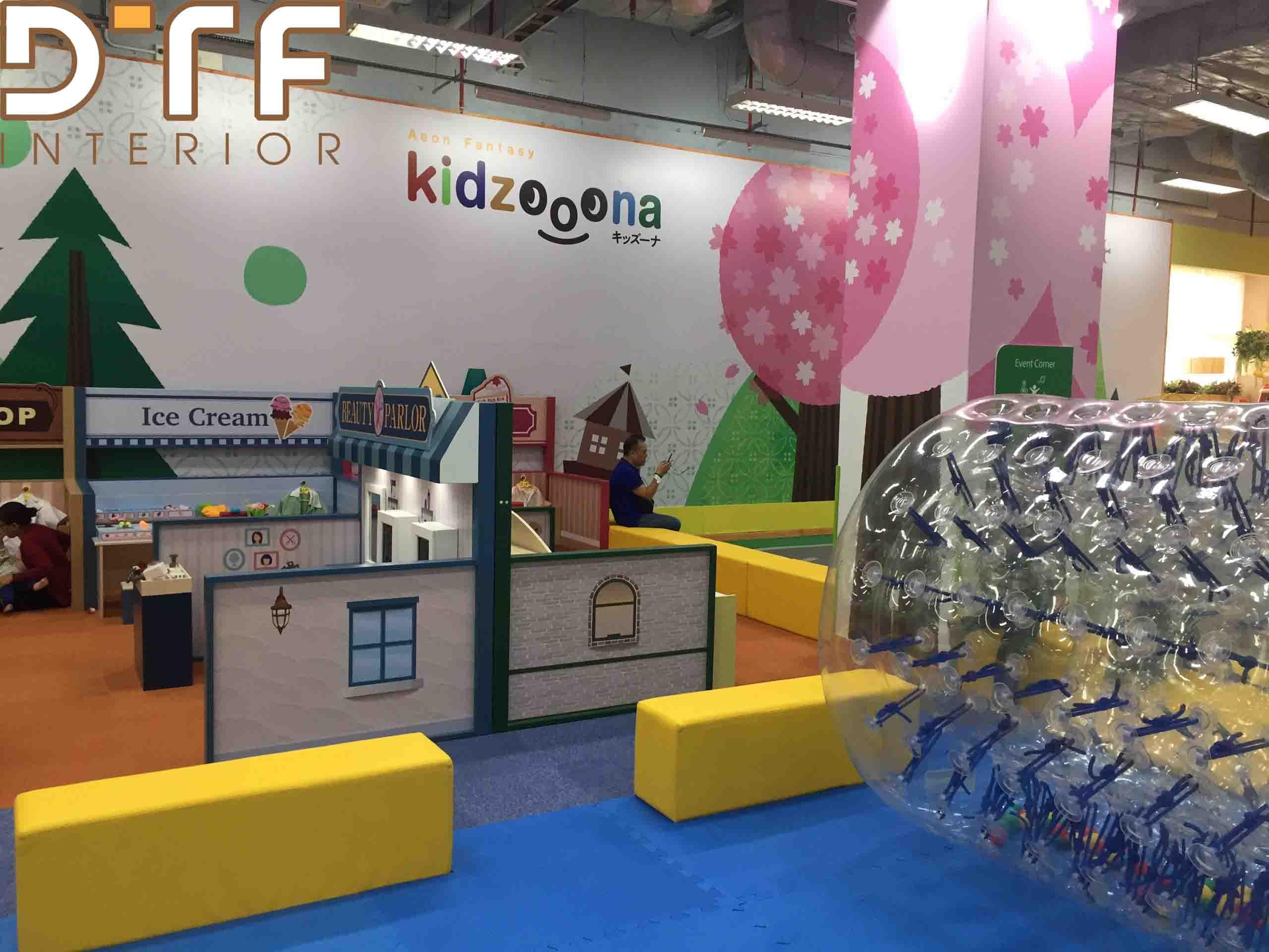 Thi công nội thất khu vui chơi trẻ em Kidzooona - Molly Fantasy Tân Phú Celadon