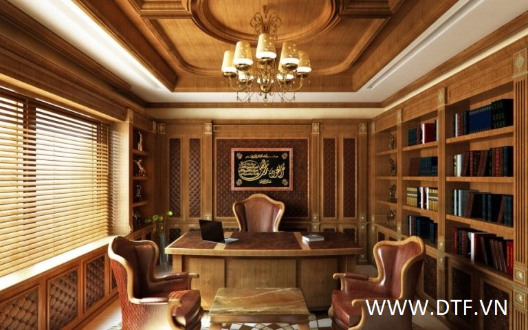 Phong cách thiết kế văn phòng truyền thống cổ điển