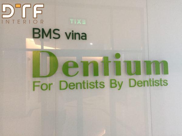 Thi công nội thất văn phòng Dentium tòa nhà Handico Phạm Hùng