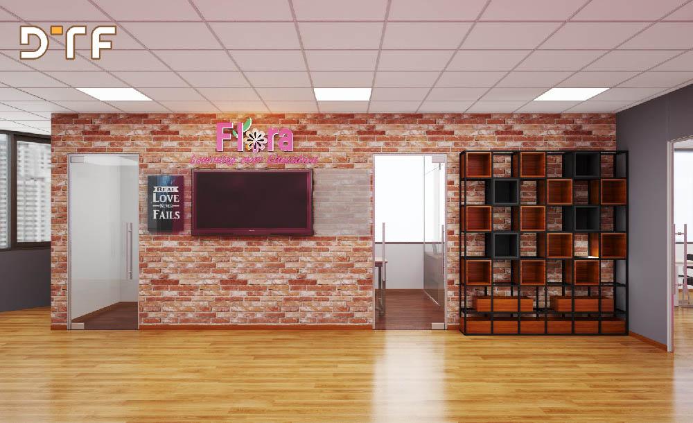 Thiết kế thi công nội thất cơ sở đào tạo Flora-ami
