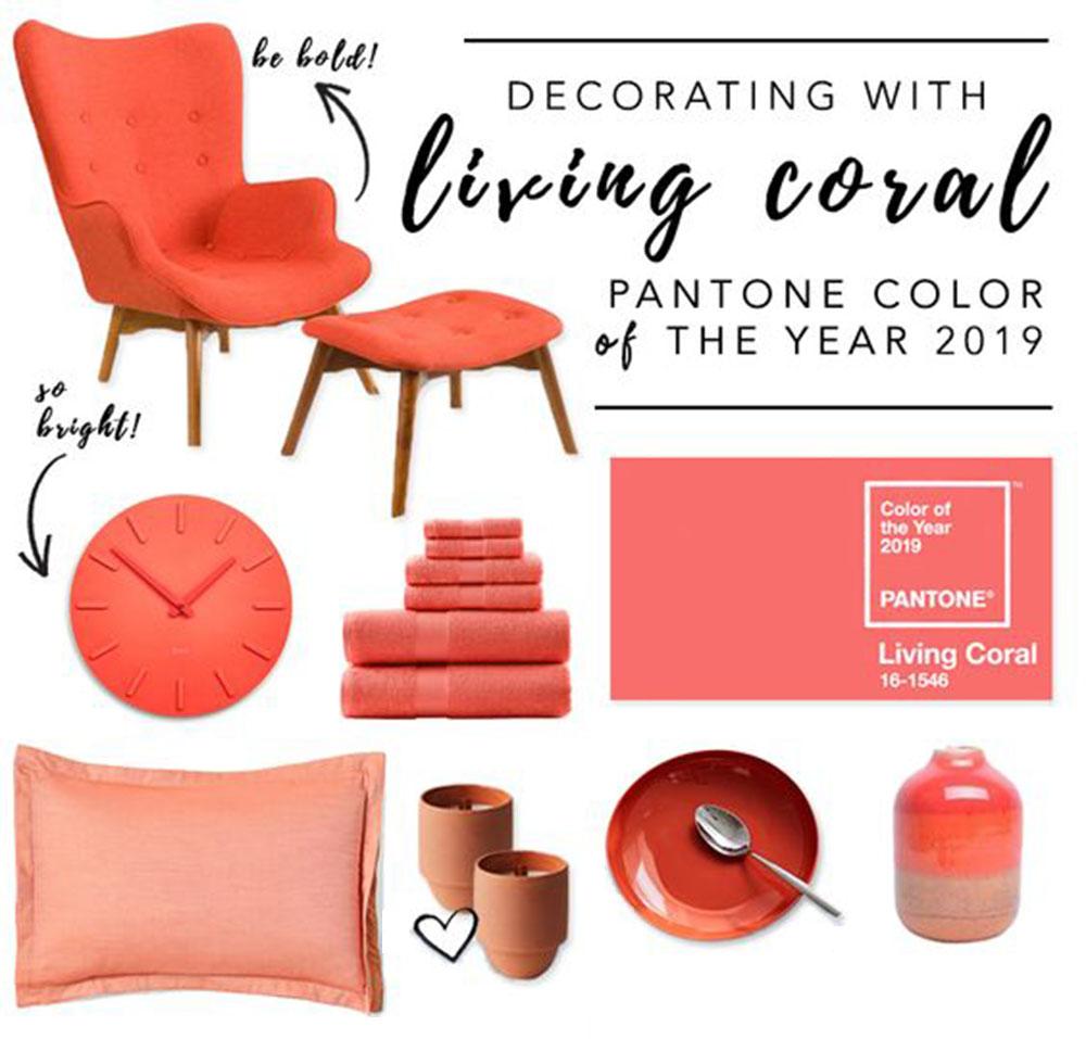 Nội thất nổi bật mang sắc màu của năm 2019