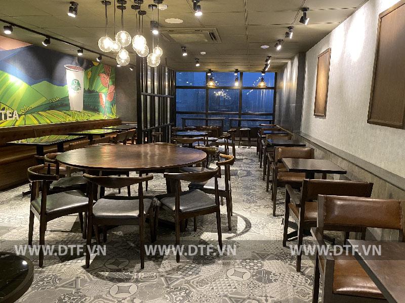 Thi công Nội thất café Phúc Long coffee & tea