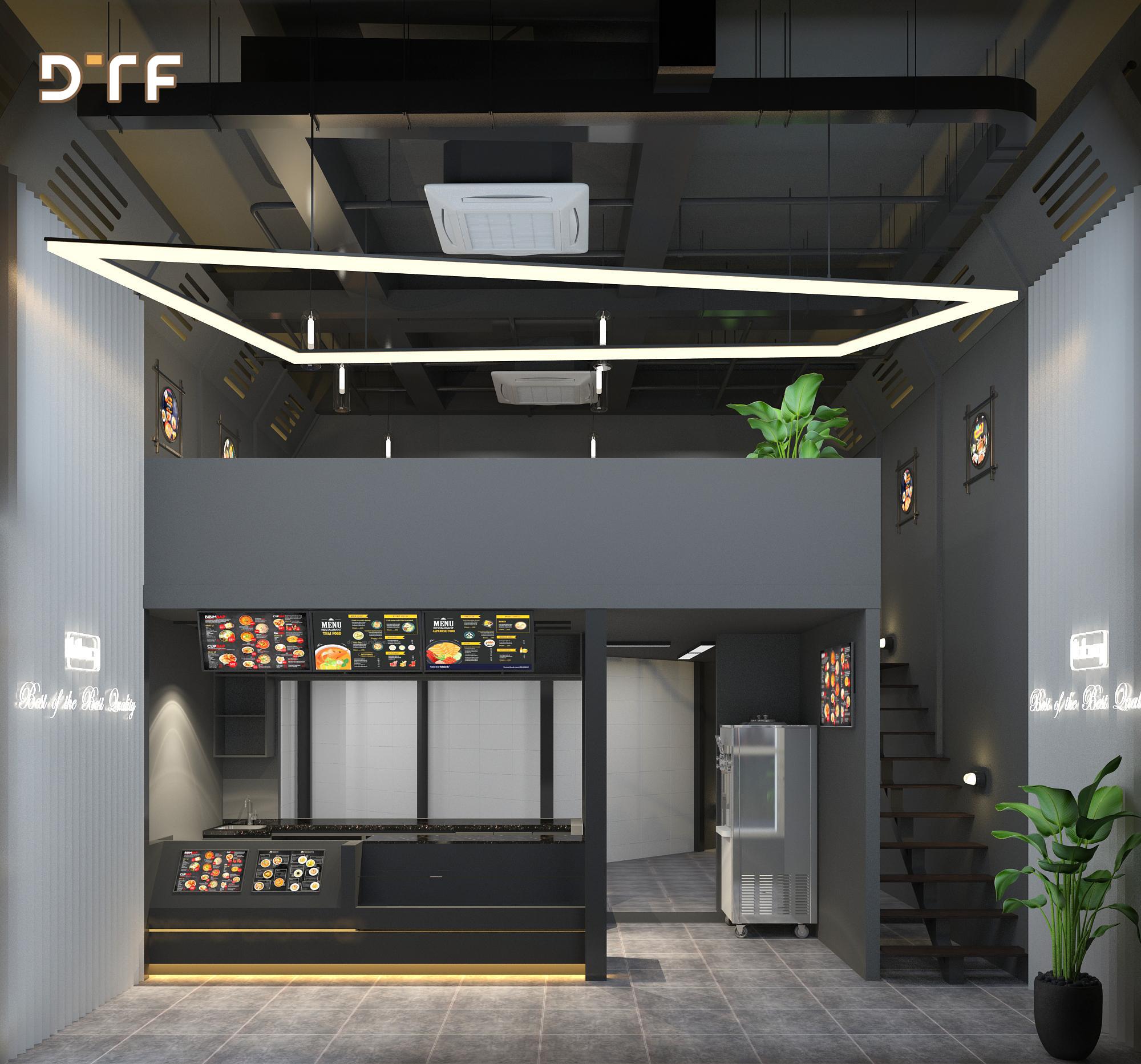 Thiết kế cửa hàng BBQ Chicken Mễ Trì