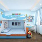 Mẫu giường 2 tầng gỗ công nghiệp cao cấp cho chung cư