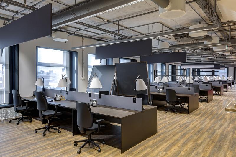 Phối màu trong thiết kế nội thất văn phòng hiện đại