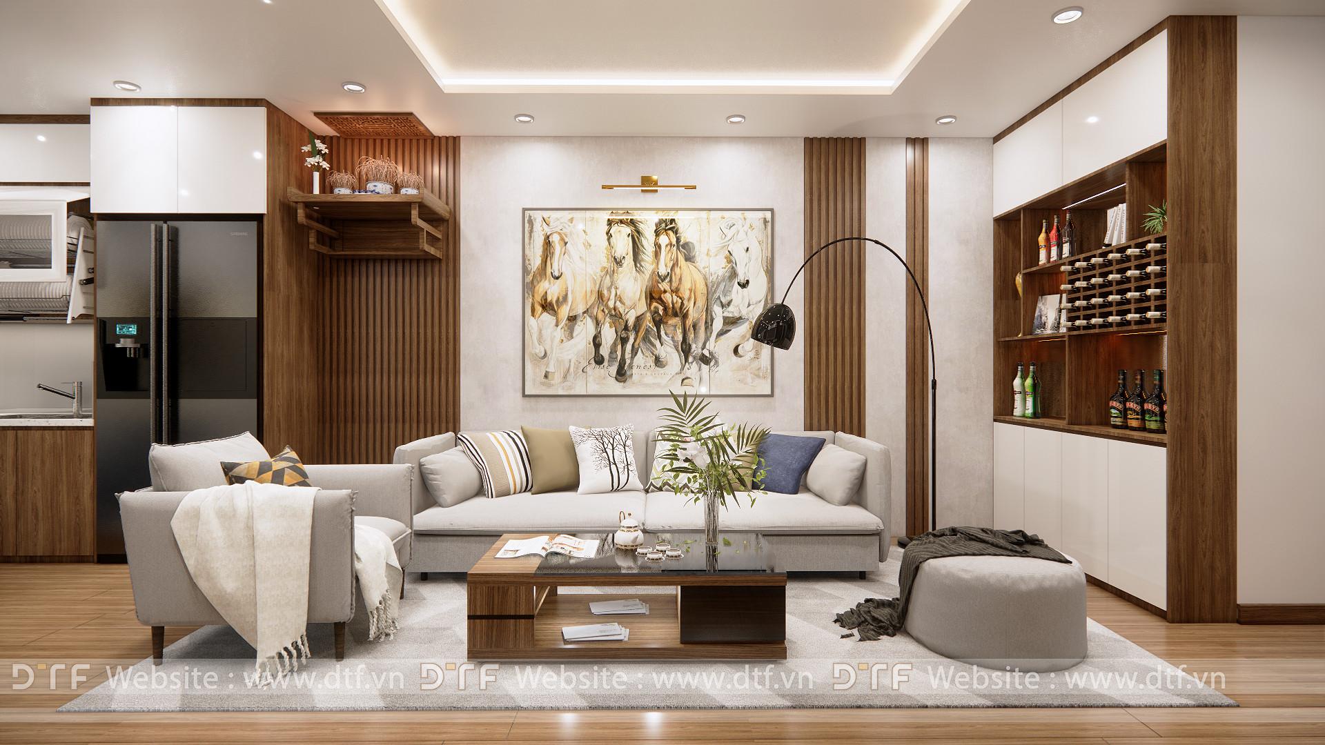 Thiết kế nội thất chung cư đẹp cao cấp tại Hoàng Mai