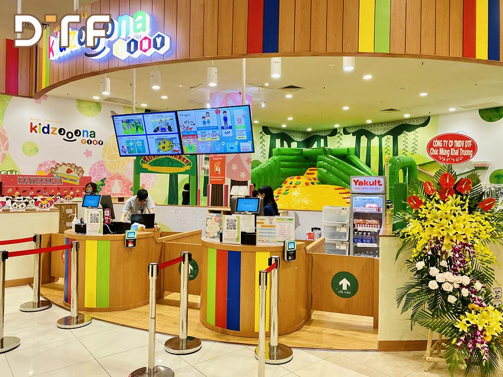 Thi công khu vui chơi trẻ em kidzooona tầng 3 AEON MALL Long Biên 2021