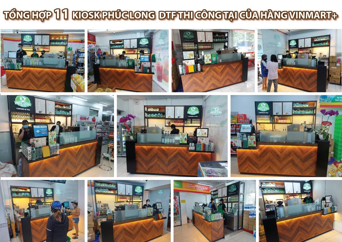 DTF hợp tác thi công hệ thống Kiosk Phúc Long tại của hàng Vinmart+ trên toàn quốc.