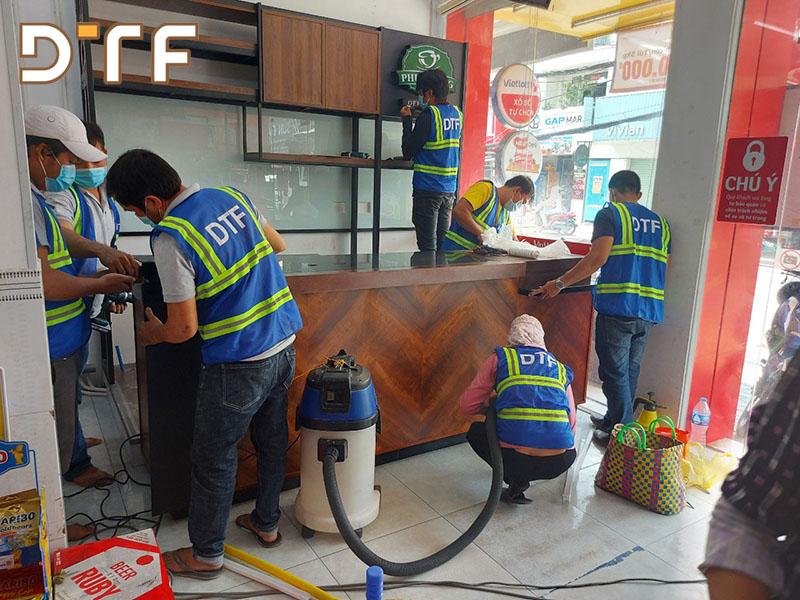 DTF hợp tác thi công hệ thống Kiosk Phúc Long tại của hàng Vinmart+ trên toàn quốc
